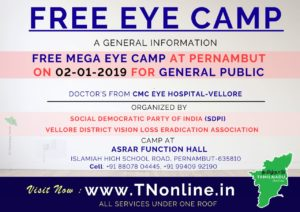 CMC-EYE Camp at Pernambut